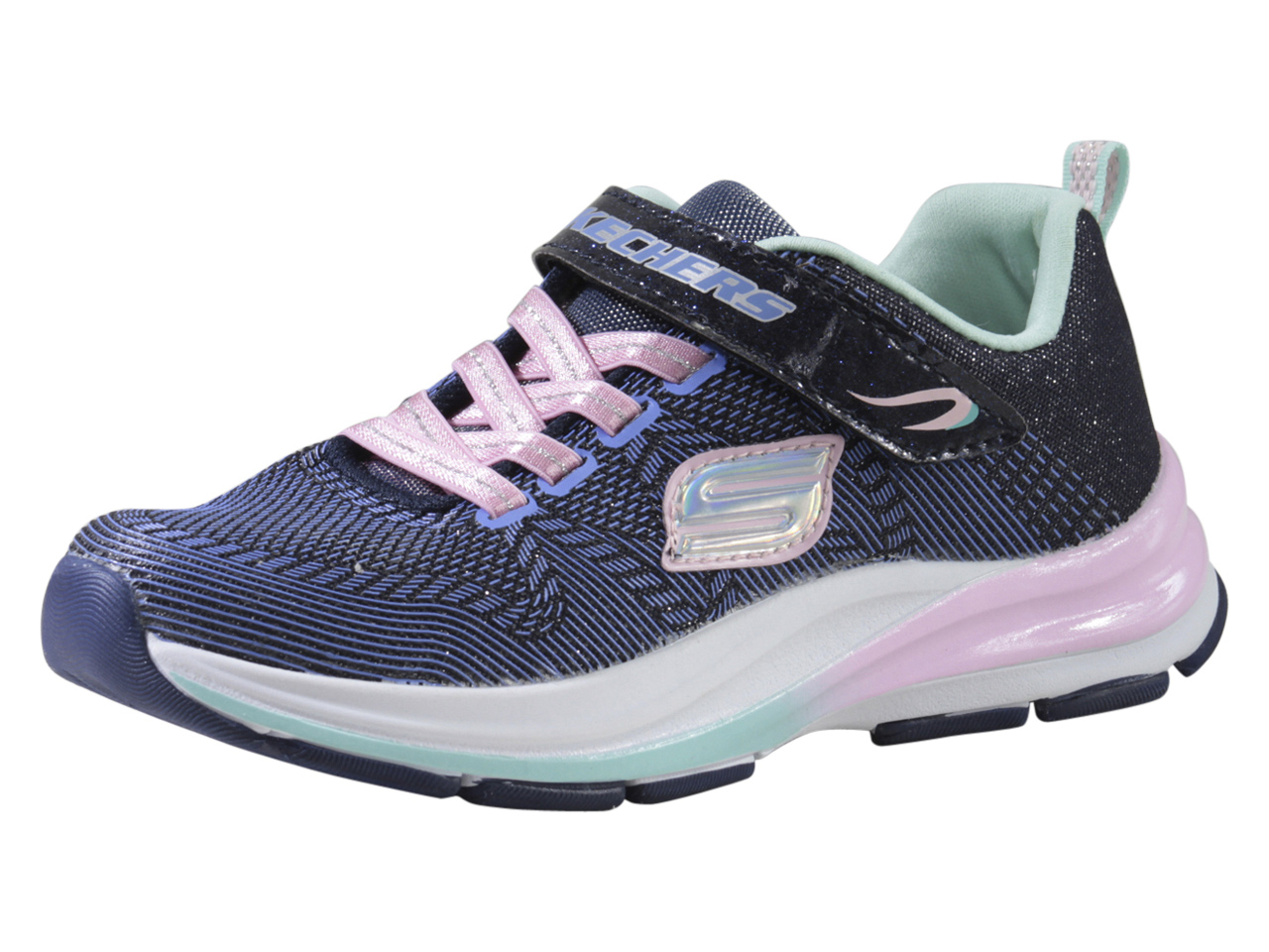 Details about Skechers LittleBig Girl's Double Strides Duo Dash NavyPink Sneakers Shoes