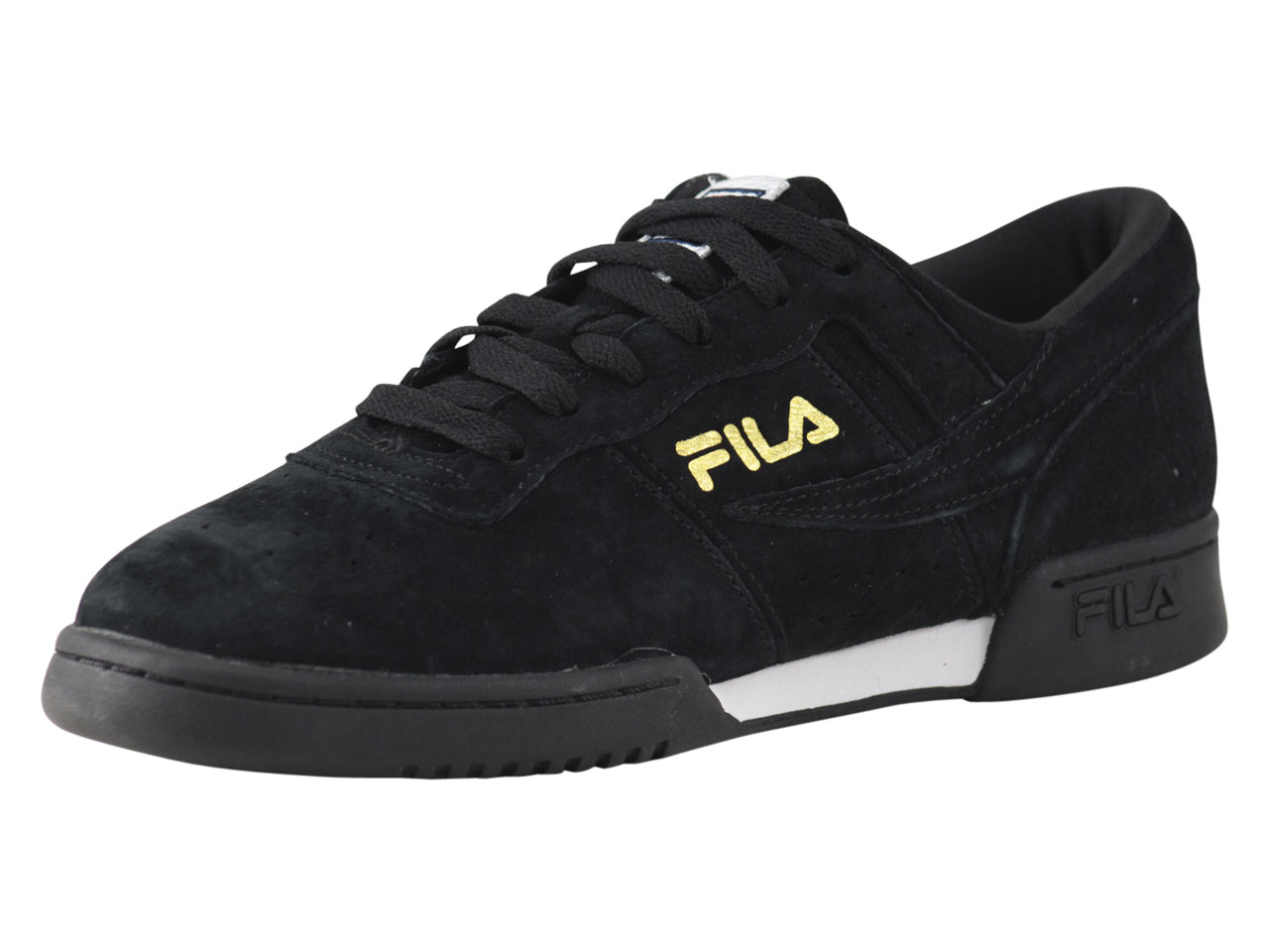 Details about Fila Men's Original Fitness Lineker BlackWhiteMarigold Sneakers Shoes