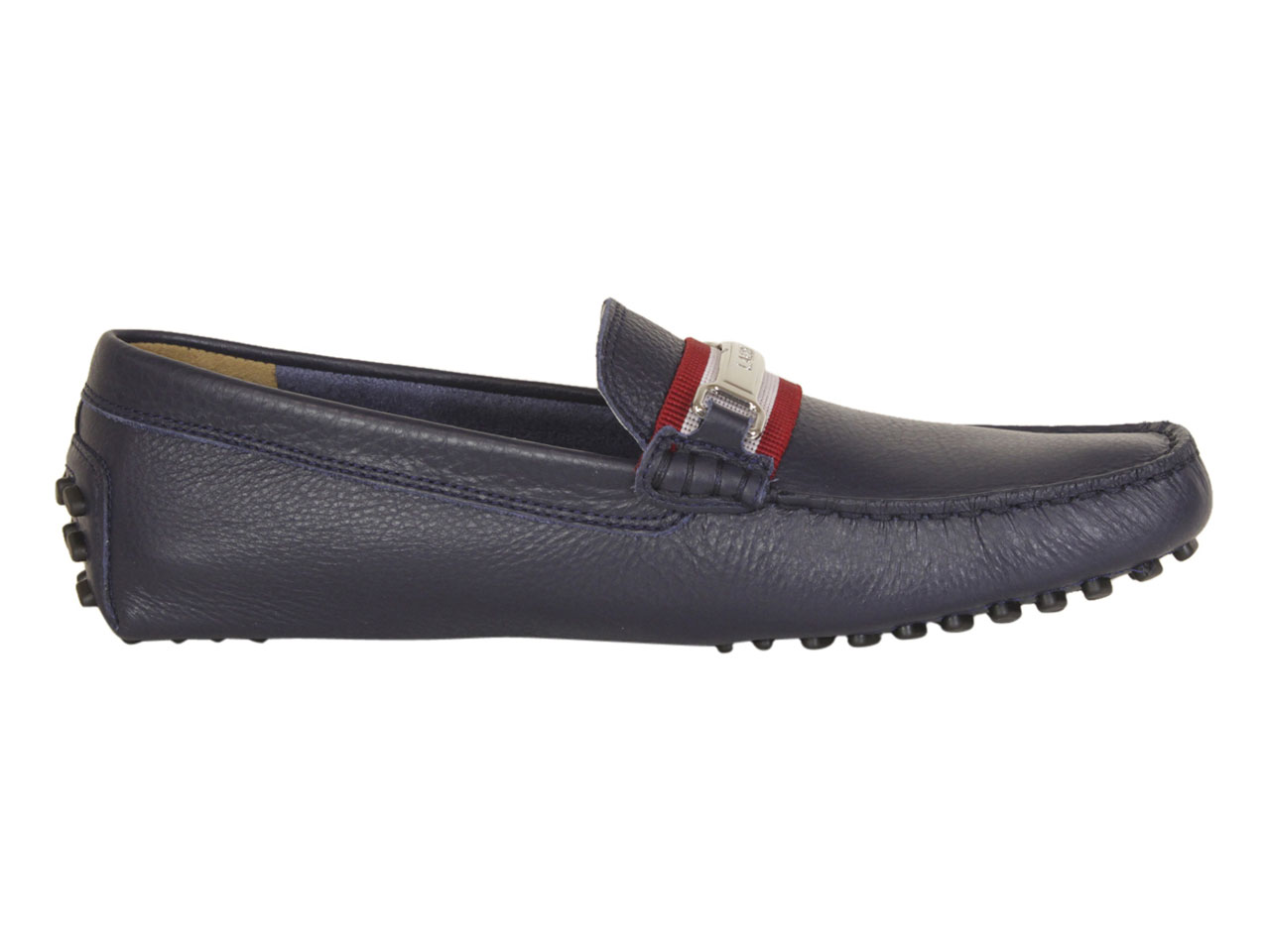 LACOSTE Men's Loafers Ansted 119 In Navy Red | eBay