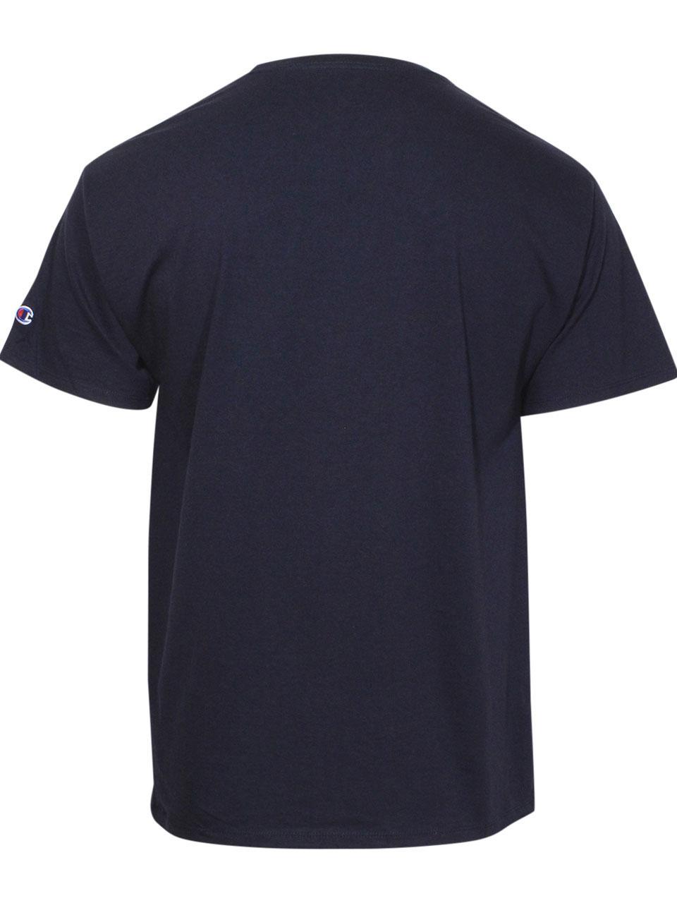 Champion-Split-Script-Logo-Jersey-T-Shirt-Men-039-s-Short-Sleeve-Crew-Neck-Cotton thumbnail 6