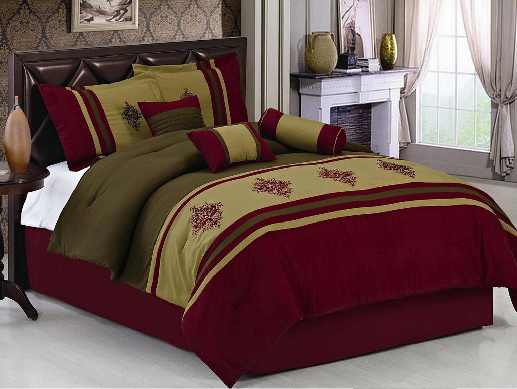 Burgundy King Comforter Set