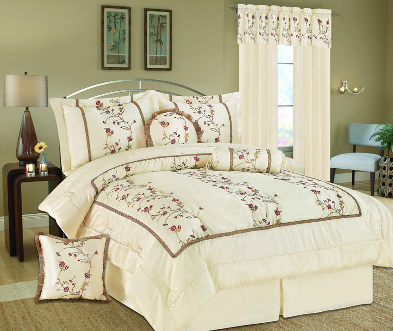 7pcs Queen Somerset Embroidery Bedding Comforter Set Ebay