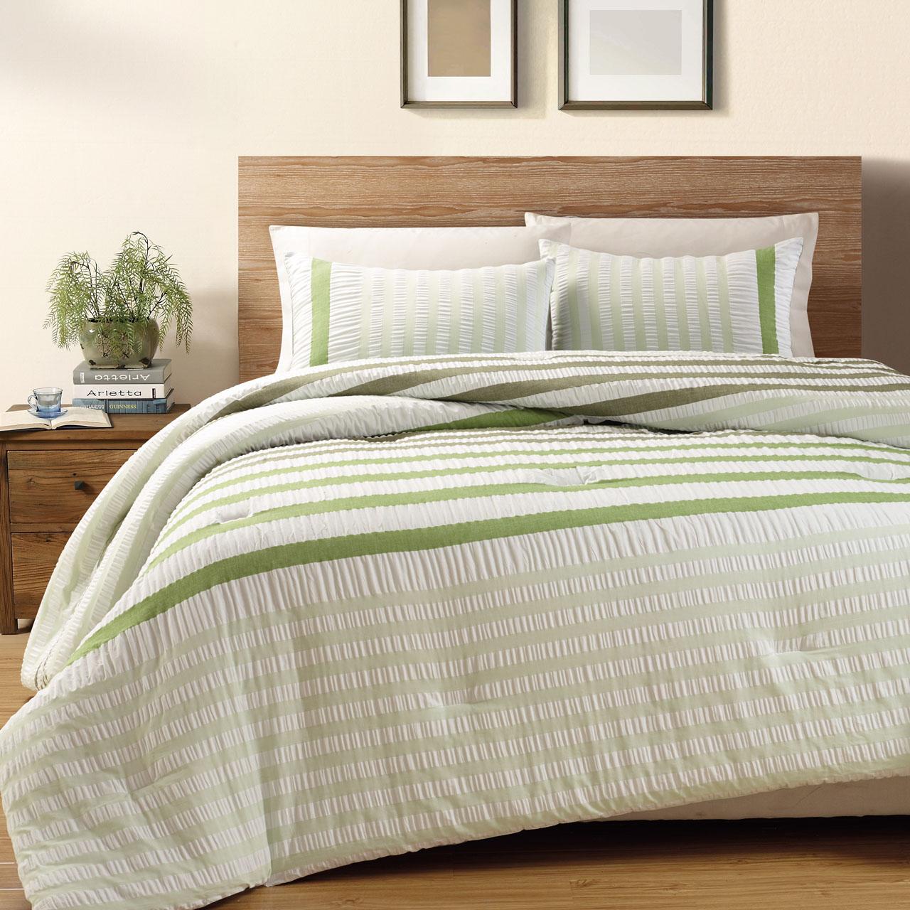 3 Piece Koro 100% Cotton Seersucker Comforter Set