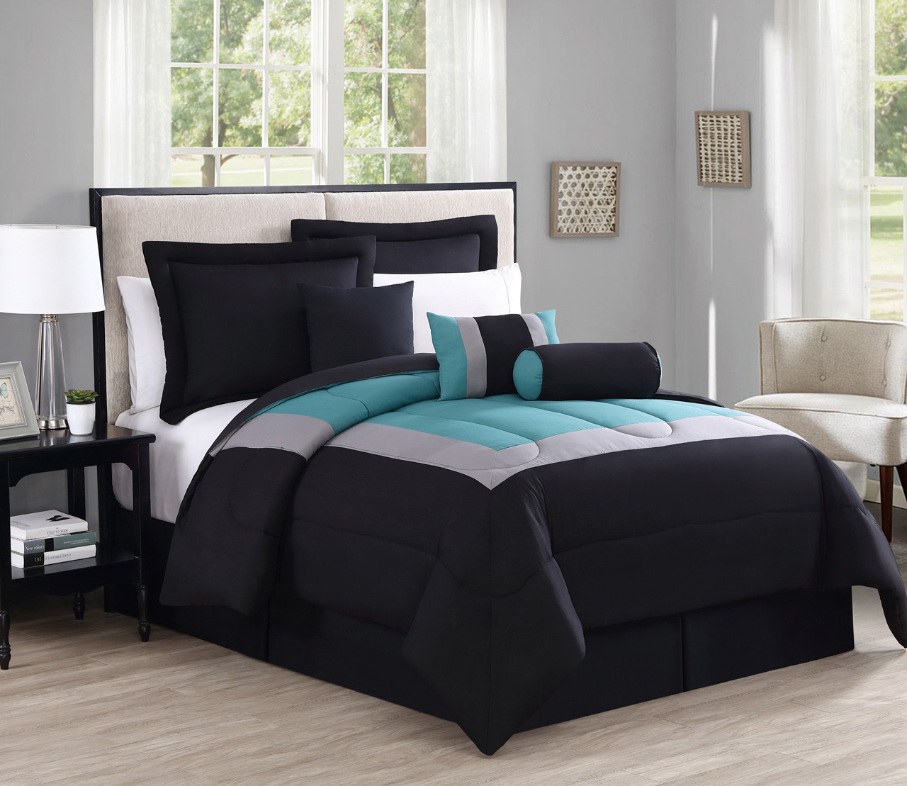 black well and furniture with white target at sets beddingss blue nursery plus comforters of full as striped bedroom teal twin size also beddings comforter cheap set canada