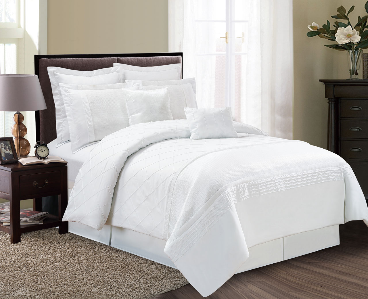 beautiful models comforter set lodge king white ecrins