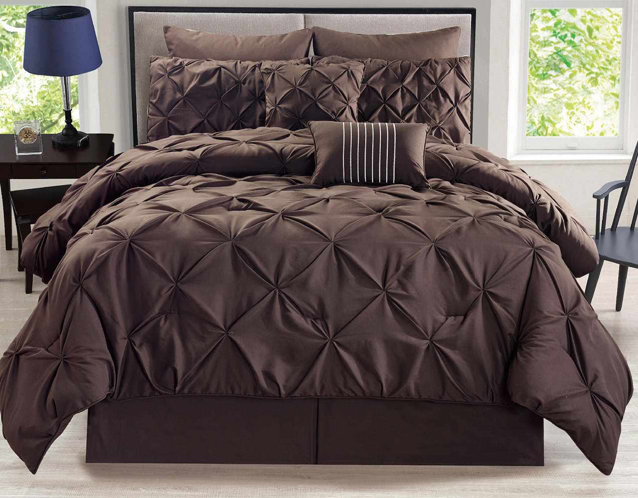 green winsome your pleat residence x pinched to cozy comforter regard with pinch design bedroom beddings set
