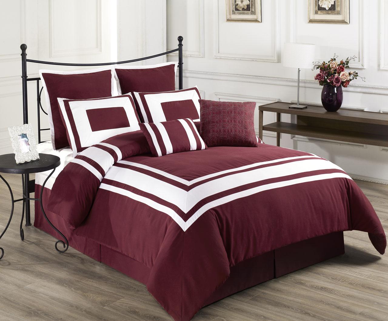 8 Piece Lux Decor Comforter Set Ebay