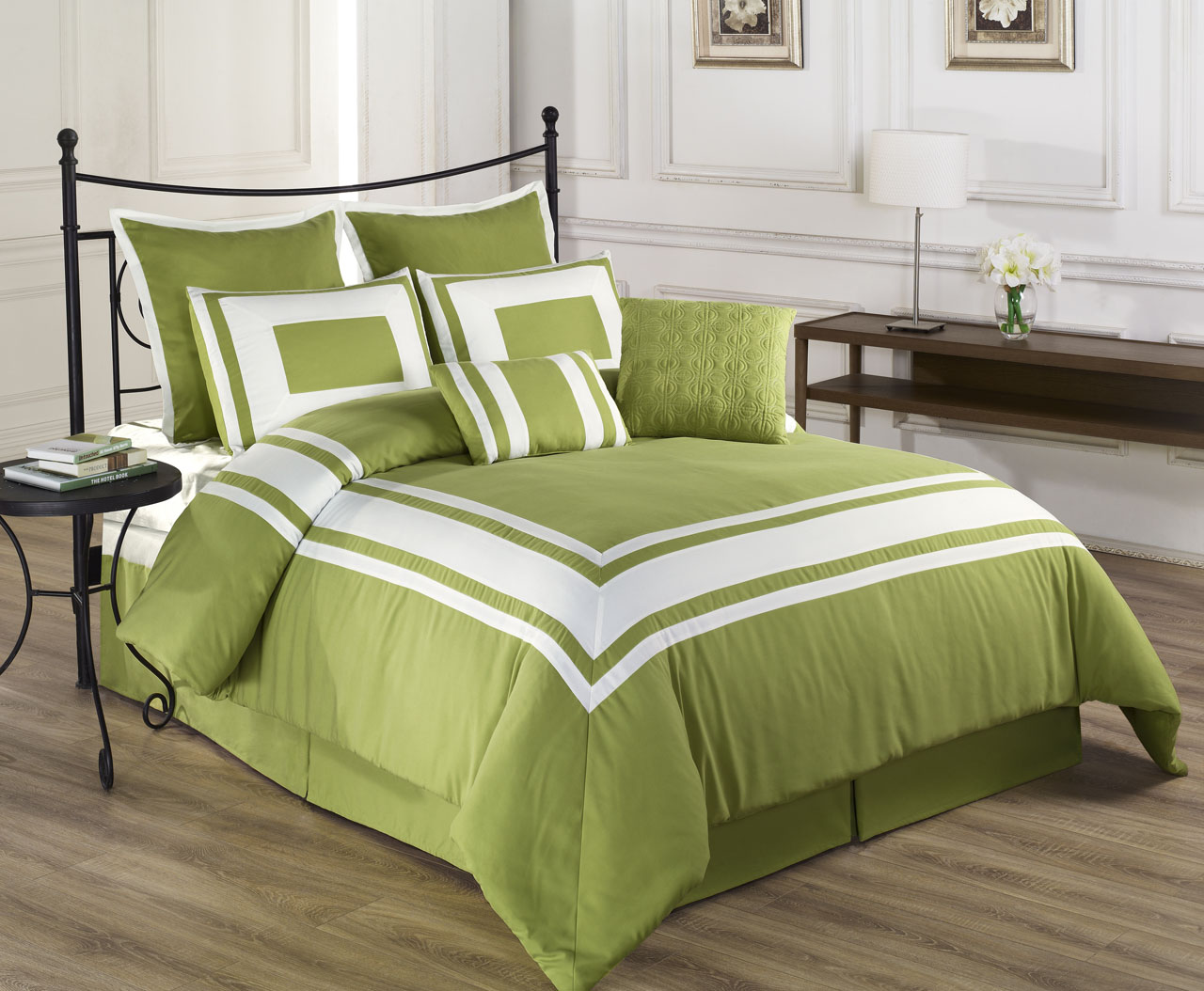 8 Piece Lux Decor Comforter Set