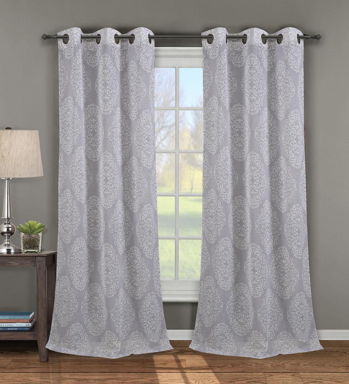 Single Jules Print Window Curtain Panel W Grommets