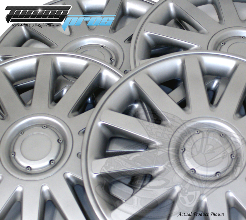 "15/"" Inch Replacement Wheel Cover Hubcap #610 Metallic Silver Hub Caps 4pcs Set"