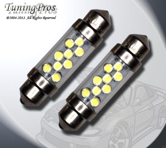 Set of 2pcs Blue Under Hood Light 9 LED Light Bulbs 561-39mm 1 Pair