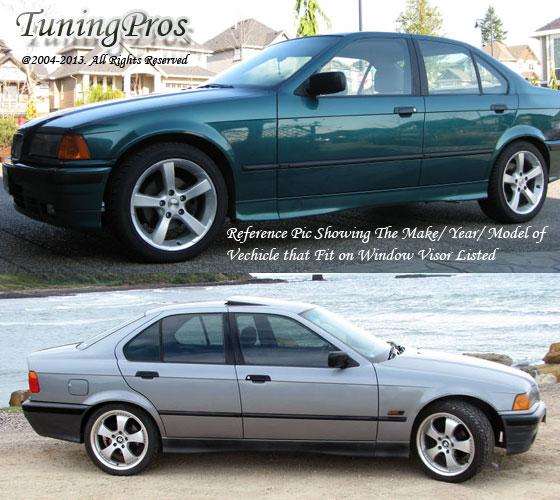 Vent Shade Window Visor 4DR BMW E36 325i 318i 328i 92-98 1992 1993 1994-1998 4pc