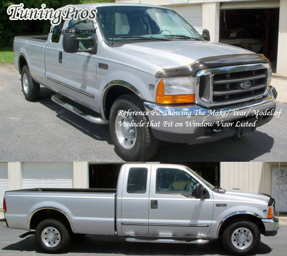 JDM Vent Window Visor Out-Channel 4pcs For Ford F250 F-250 Super Cab 2017-2018