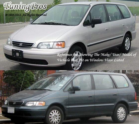 For Honda Odyssey 1995-1998 Window Visor Sun Guard In-Channel Dark Grey 2pcs