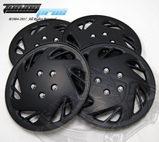 "Hubcaps Style#054 17/"" Matte Black 4pcs Set 17 inch Rim Wheel Skin Cover Hub cap"