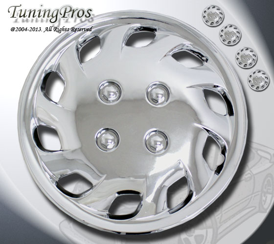"14"" inch Hubcap Chrome Wheel Rim Covers 4pcs Style Code 501 14 inches Hub Caps"