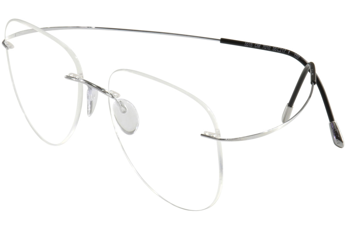 Line Drawing Glasses : Silhouette eyeglasses tma must collection chassis  silver