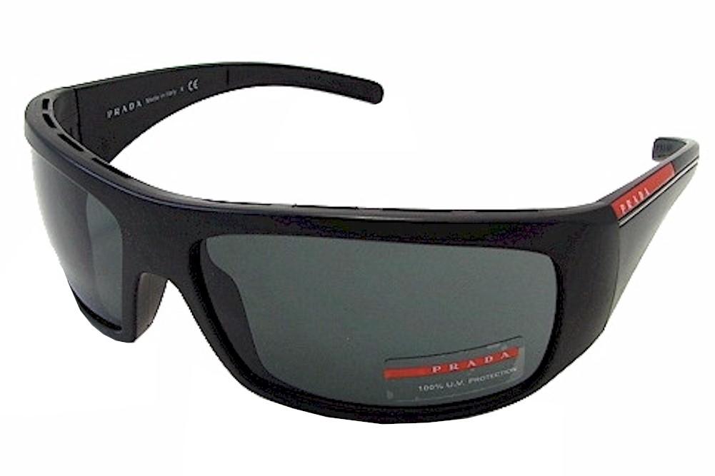 5ad8d39ed6 Prada Men's SPS01L SPS-01L 1BO-1A1 Black Sand Sport Wrap Sunglasses ...