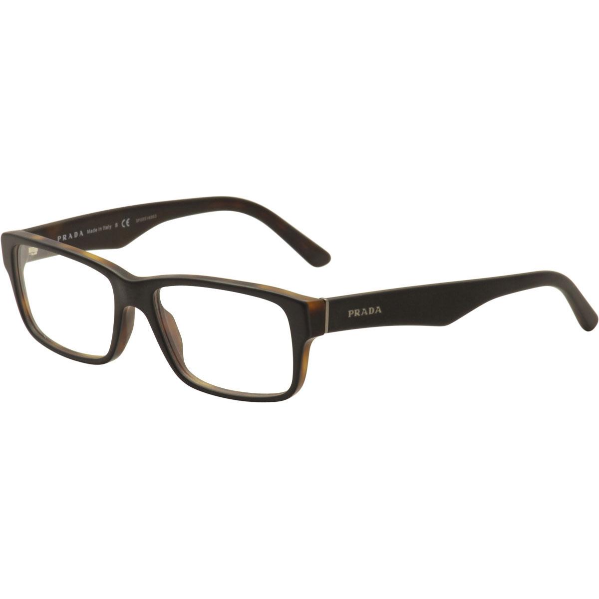 fa42c633a4b9 Prada Eyeglasses VPR16M VPR 16M UBH-1O1 Black Matte Tortoise Optical ...