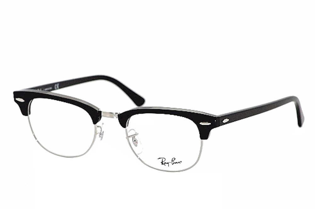Ray Ban Eyeglasses Clubmaster RB5154 5154 2000 Black RayBan Optical ... 6acebe8ddde4