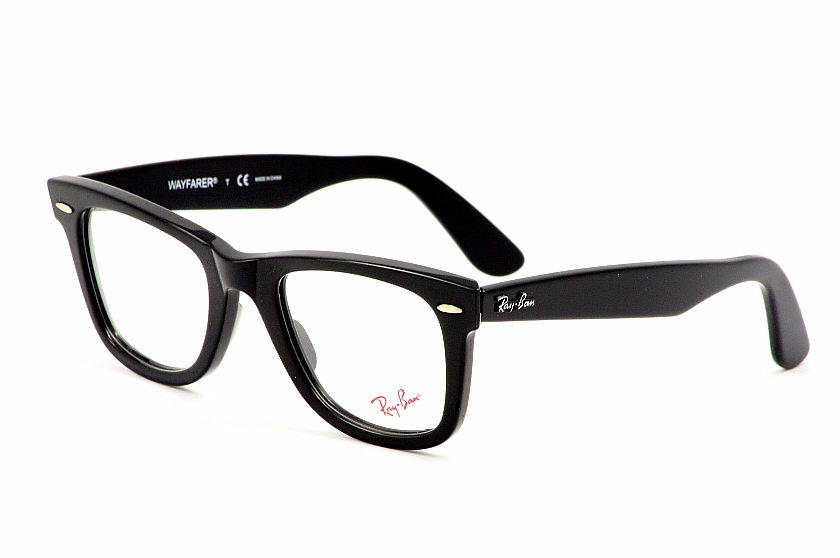 dc755db7412 RayBan Wayfarer Eyeglasses 5121 2000 Black Full Rim Ray Ban Optical ...