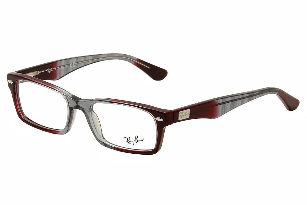 Ray Ban Eyeglasses RB/5206 5517 Grey/Bordeaux RayBan Full Rim ...