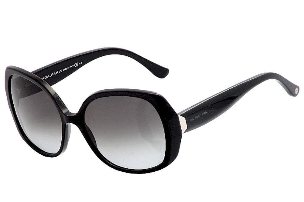 a8bb317d89 Balenciaga Women s BA95S BA 95S 006 N6 Black Gold Fashion Sunglasses ...