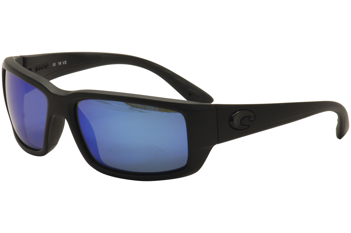 d3cfcf032 Costa Del Mar Men's Fantail FT01 OBMGLP Blackout 580G Polarized ...