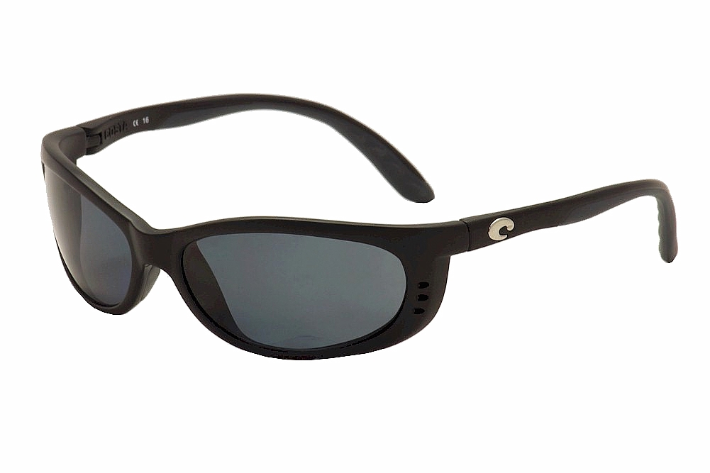 2bad77a92f1f8 Costa Del Mar Men s Fathom FA 11 OGP Black Grey Silver Polarized ...