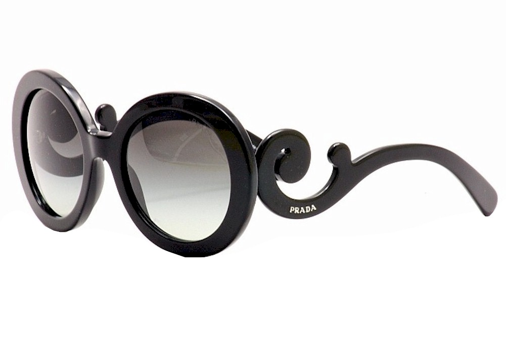 Prada Women s Baroque SPR27N SPR 27N 1AB-3M1 Shiny Black Fashion ... ab95211c7a
