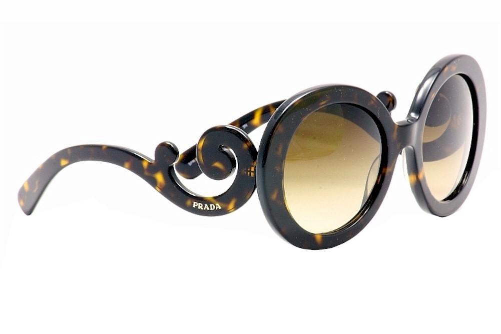 9059b8d74 Prada Women's Baroque SPR27N SPR/27N 2AU6SI Havana Brown Fashion ...