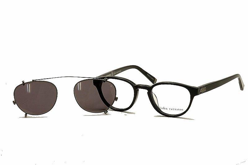 c4e7e896ef8 John Varvatos Óculos V353 V 353 Preto Óculos De Sol Com Armação ...