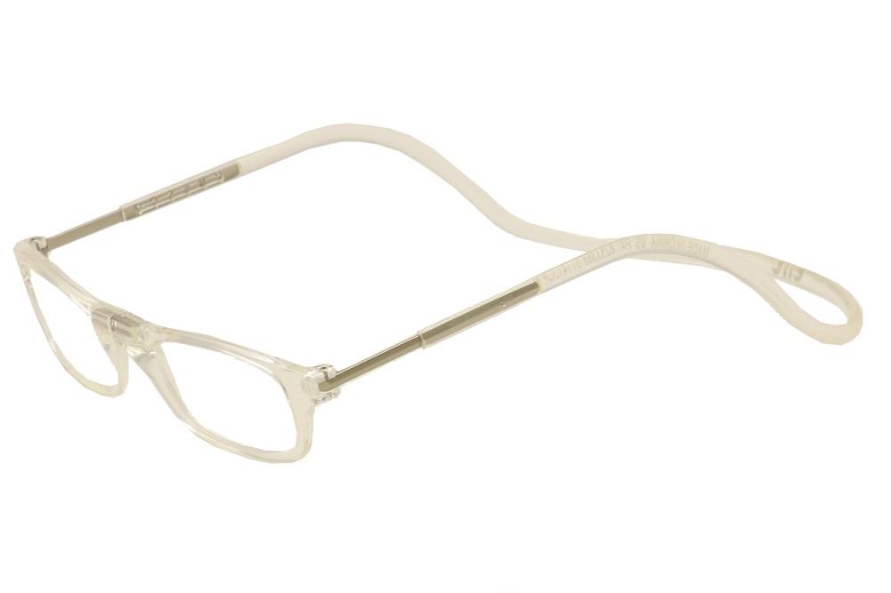0ae62c390a Clic Reader Eyeglasses Full Rim Clear Magnetic Reading Glasses