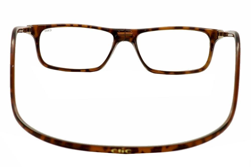 aebab8a2dd93 Clic Reader Eyeglasses Executive Tortoise Full Rim Magnetic Reading ...