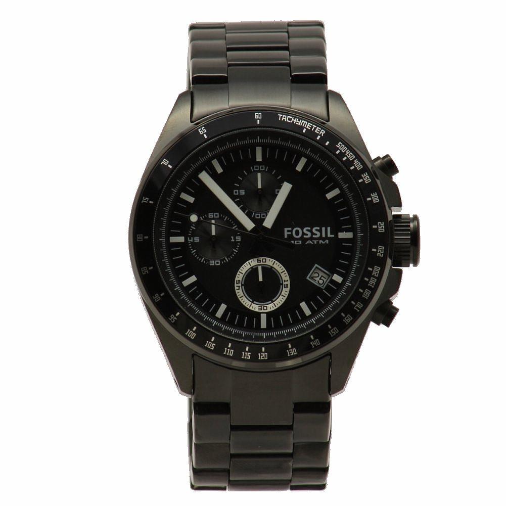 fd6e1dd0ade4 Fossil Men s Decker CH2601 Black Stainless Steel Chronograph Watch ...
