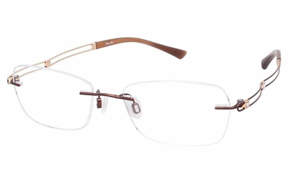 9dd8fbccc Charmant Line Art Women's Eyeglasses XL2050 XL/2050 BR Brown Optical ...