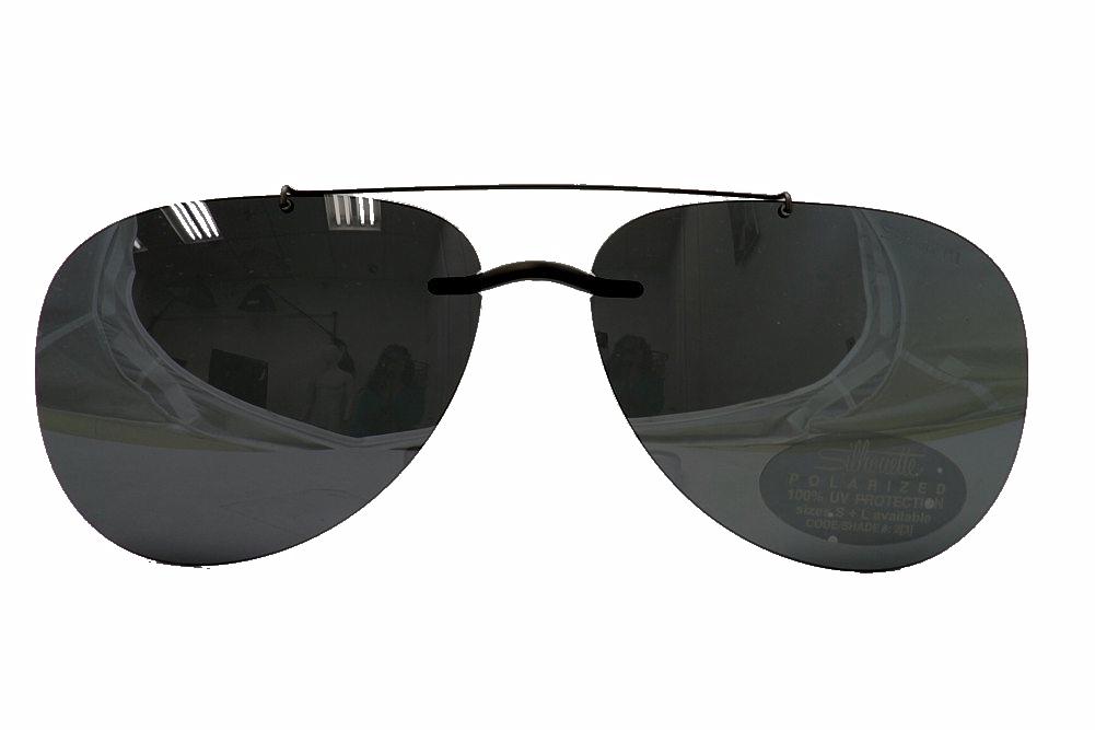 1c9c91fc170 Silhouette Sunglasses Clip-On 5090 A2 0101 Polarized Blue Gray ...
