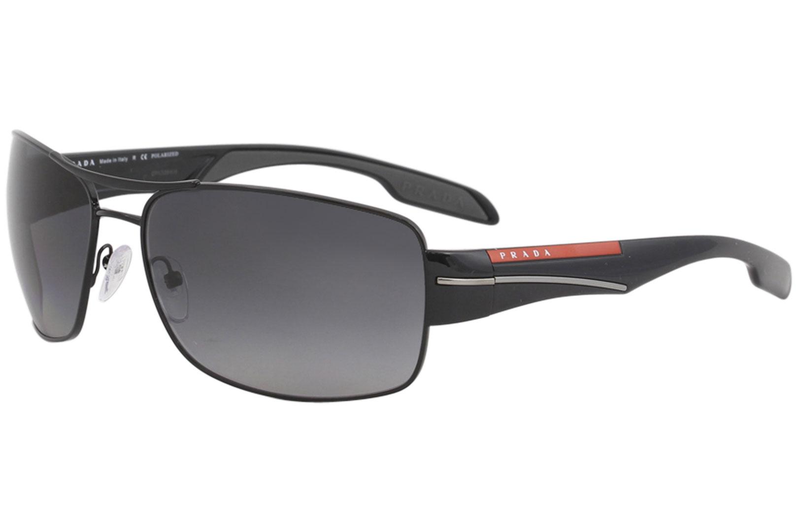 a1162885ae Details about Prada Linea Rossa SPS53N SPS 53N 7AX 5W1 Black Pilot Polarized  Sunglasses 65mm