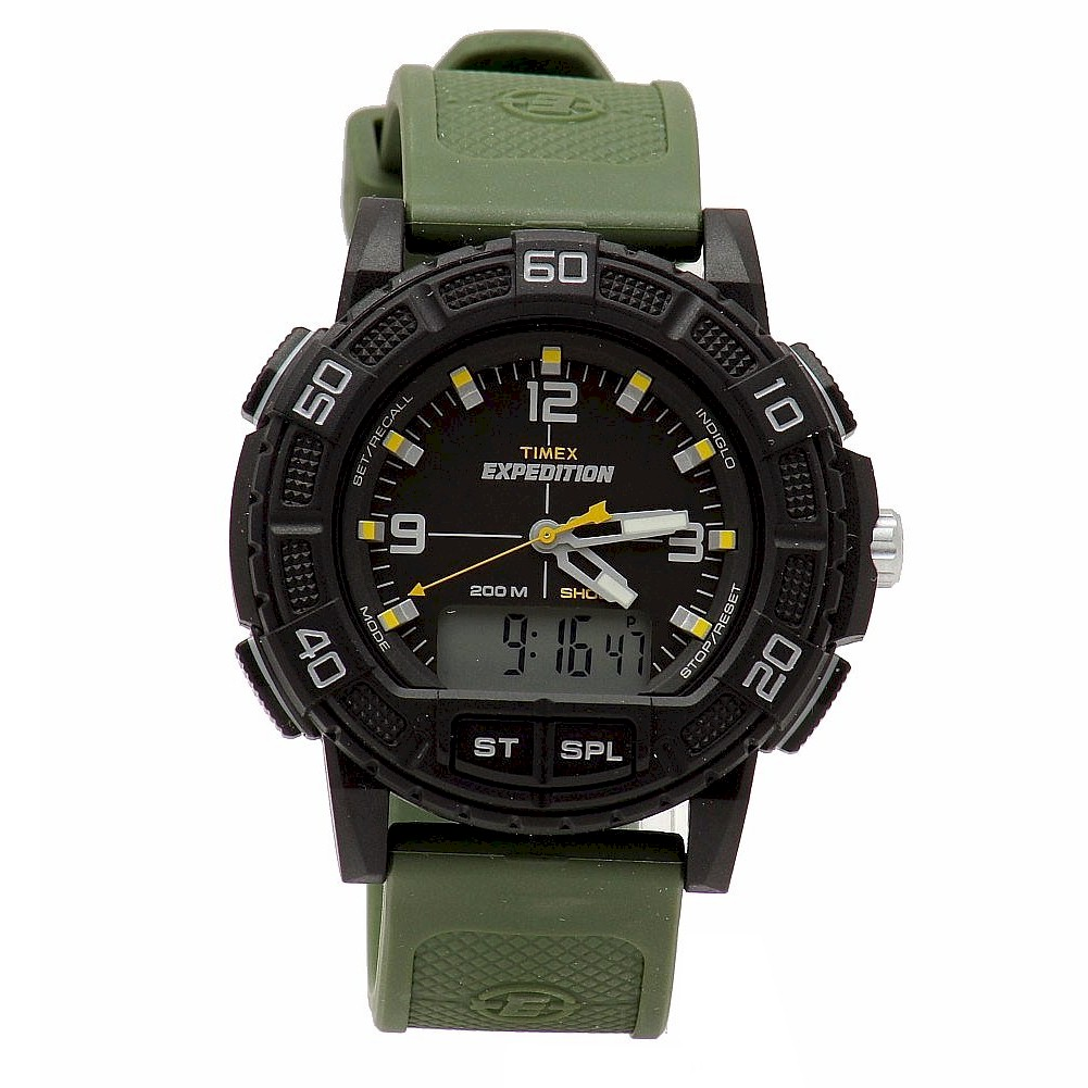 Timex Expedition Chronograph Digital Dial Black Resin Men ... |Timex Expedition Digital Watches Men