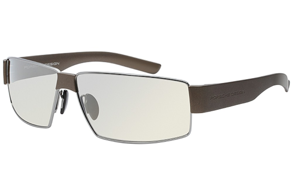 4e8ed6546165 Porsche Design Men s P 8529 P8529 D Matte Brown Gray Blue Sport ...