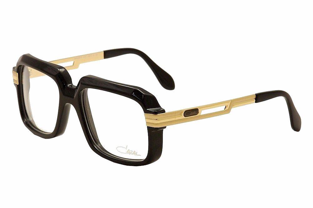 4d49ef89e6c1 Cazal Eyeglasses 607 2 001 Black Gold Full Rim Optical Frame 56mm ...