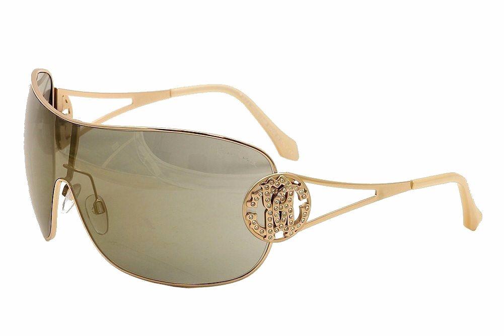 aa11f4f0d1 Roberto Cavalli Women s Menkar 891S 891 S 28G Gold Shield Sunglasses ...