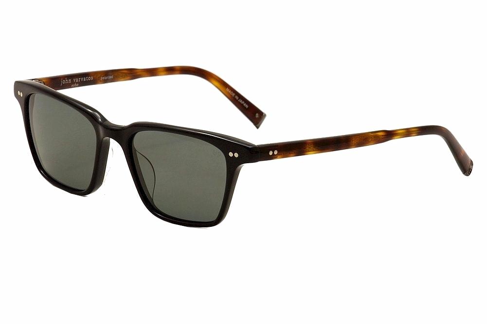 b3dd6078c7 John Varvatos Men s V601 V 601 Black Polarized Sunglasses 54mm ...