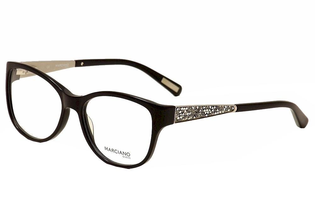 Guess By Marciano Eyeglasses GM244 GM/244 BLK Black Full Rim Optical ...