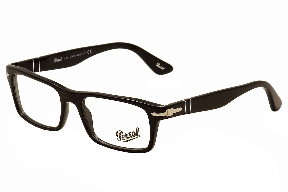 Persol Eyeglasses Suprema 3050V 3050/V 95 Black Full Rim Optical ...
