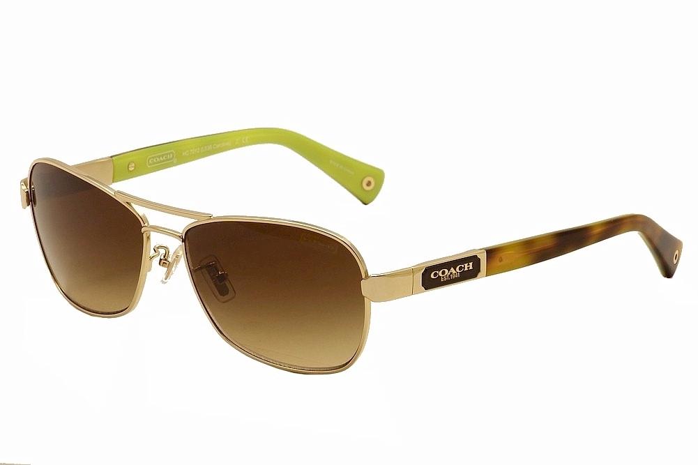 fc53d06fbba1 Coach Caroline HC7012 HC/7012 9100/13 Gold/Tortoise Pilot Sunglasses ...