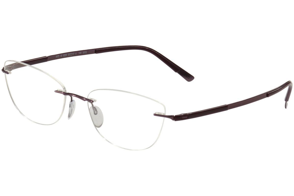 61b3e53b784 Silhouette Eyeglasses Titan Contour Chassis 5416 6058 Rimless ...