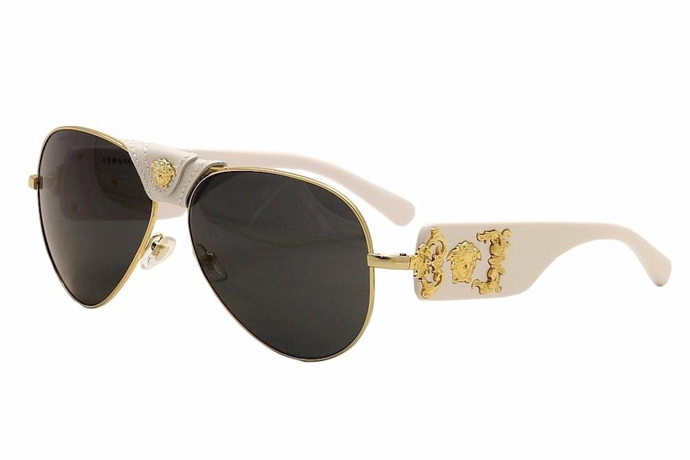 843c744e5ca Versace 2150Q 2150-Q 1341 87 White Gold Genuine Leather Pilot ...