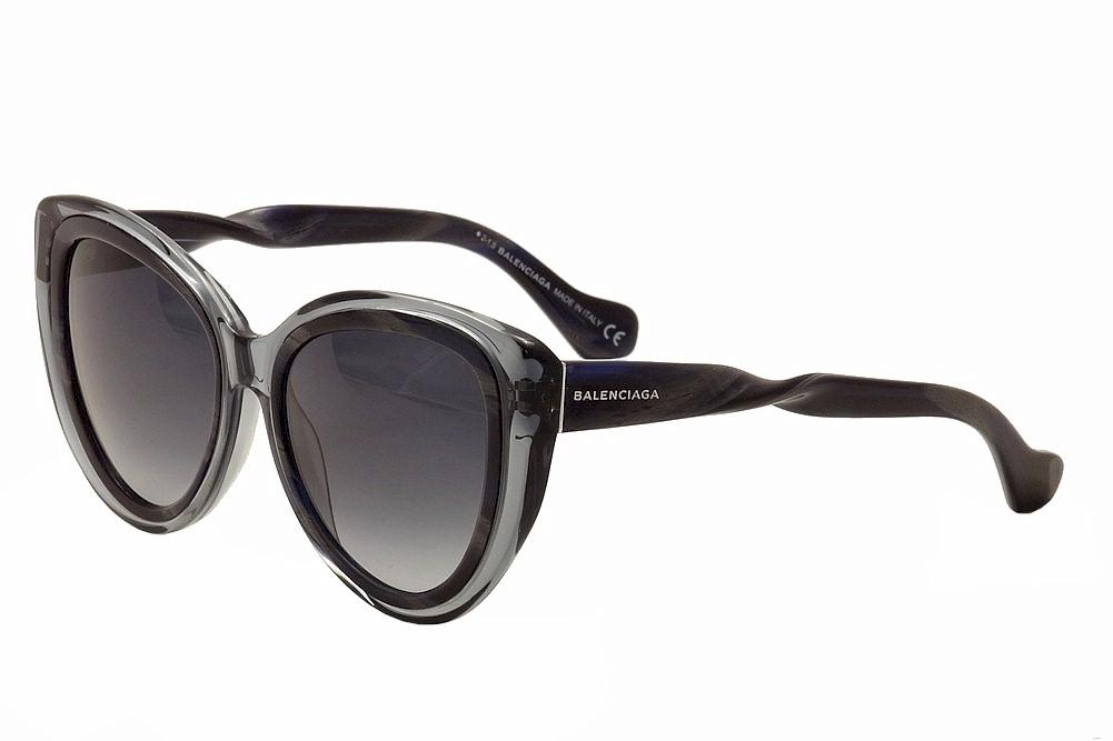 fca8cae5eb Balenciaga BA26 BA 26 92W Transparent Gray Horn Fashion Cat Eye ...