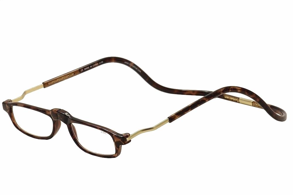 64b1c11c81d4 Clic Reader Eyeglasses XXL Tortoise Gold Full Rim Magnetic Reading ...